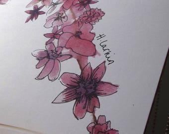 Blossom A4 watercolour print