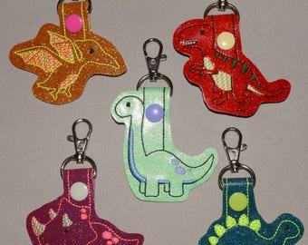 Dinosaur Keychain (brontosaurus, triceratops, pterodctyl, stegosaurus, t-rex)