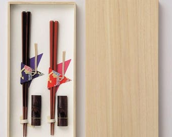 Japanese wooden chopsticks with Urushi lacquer