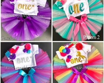 First birthday outfit girl, 1st Birthday Outfit girl , Purple outfit , shinnig purple gold tutu, rainbow birthday outfit , mermaid outfit
