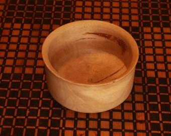Turned hardwood bowl