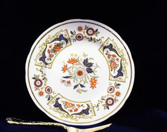 Paragon plate  Vintage Paragon Fine Bone China Plate - By appointment to Her Majesty the Queen - Chelsea Pattern