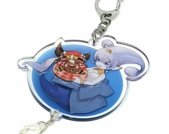 """Ever Oasis: Esna and Tethu 2.5"""" Glitter Charm (Double-sided)"""