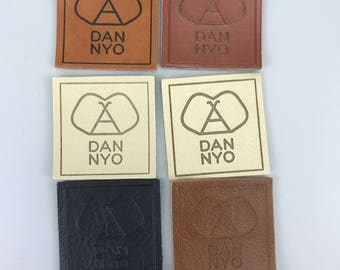 Custom fake leather label, fake leather patches, fake embossed leather labels