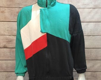 Rare Vintage Puma Full Zip Sweatshirt Jacket.