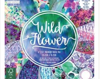 Wild Flower Paper Pad,Design Pads, Scrapbooking paper,cardmaking paper