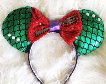 Ariel Disney Ears / Little Mermaid / Mermaid