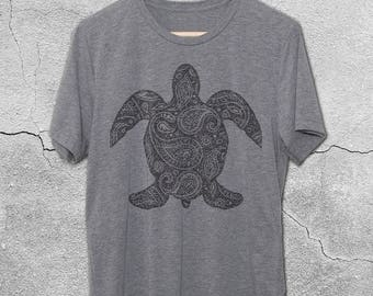 Sea Turtle Gifts - Tshirts - Paisley Sea Turtle Vintage Graphic Tees - Turtle Shirts - Sea Turtle T-Shirts for Men & women - Sea Turtle gift
