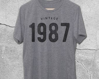 30th Birthday for Him & Her - Original 1987 T-Shirt - 30th Birthday Shirt- Gift Ideas- Vintage 1987 tshirt - 30th birthday gifts Graphic Tee