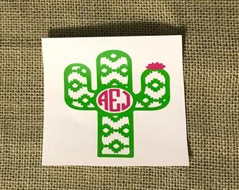 Aztec Cactus Monogram
