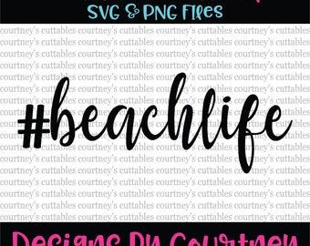 Beach Life svg/ Beach  SVG Summer quote svg/ hashtag life/ cricut file/ silhouette file