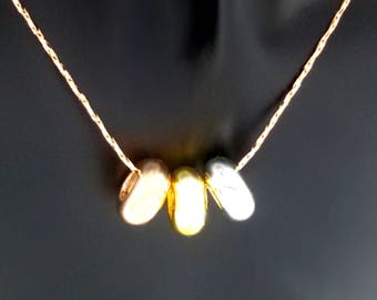 3 Gold Donuts necklace