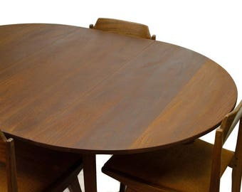 Mid Century Teak Dining Table, Teak Dining Table, Jan Kuypers Teak Table  And Chairs