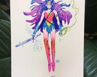 Wonder Woman print - Diana