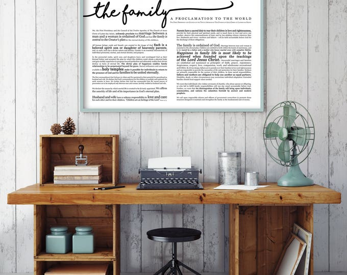 Horizontal Family Proclamation Print- LDS- Various Sizes