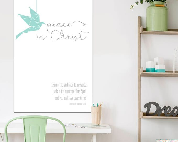 Peace In Christ- 2018 Mutual Theme Print- LDS