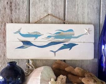 Mermaid Sign, Mermaid Decor Wood, Mermaid Decor, Mermaid Art Wood, Mermaid Sign Wood, Mermaid Wall Art Wood, Mermaid Wall Art, Mermaid Decor