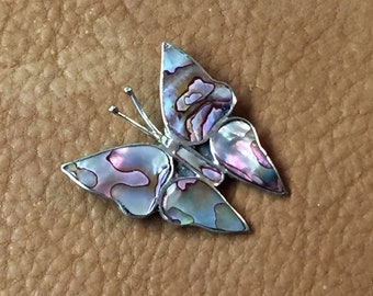 Alpaca Butterfly Abalone Inay Pin