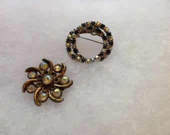 Vintage Retro Brooches, Set Of Two