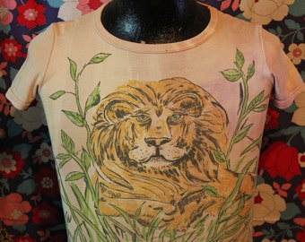 1970s Tiger Ariety T-Shirt with Rhinestone Eyes