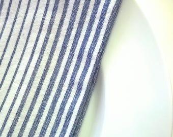 Blue Striped Tea Towel,  Blue & White Kitchen Towel, Blue and White Hand Towel, Farmhouse Dish Towel, Kitchen Tea Towel, Cottage Towel