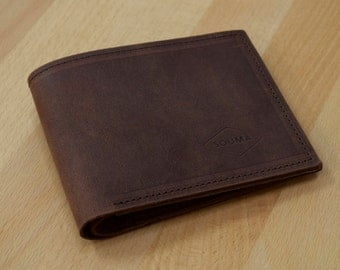 Leather Wallet / Billfold / Coin Purse / Thick leather / Made to last / Durable stylish wallet / Pull up leather / Beautiful patina