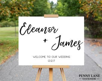 Welcome to our wedding, Wedding Welcome Sign Printable, Wedding Posters, Wedding Welcome Board, Wedding Welcome Poster, Wedding Welcome Sign