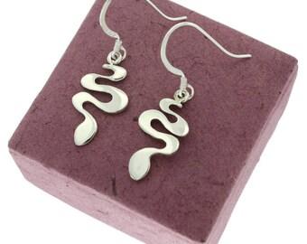 Snake, Sterling Silver Earrings