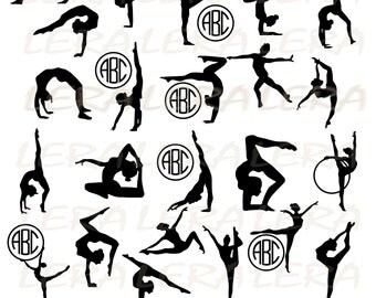 60 % OFF, Gymnasts svg, Gymnastic svg, Gymnasts Monogram svg, Gymnasts silhouettes, Gymnast svg files Svg, Dxf, Png, Gymnasts clipart
