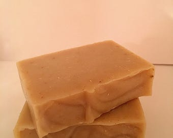 Oatmeal Lavender Goat Milk Soap, All Natural, Hand Made, Palm Oil Free, Essential Oils Only