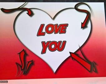 Love You - Valentine Card