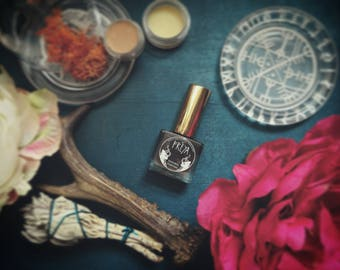 Freya - Norse Gods - Natural Perfume • A feminine, floral scent, jasmine, lotus with incense and resin • Natural Fragrance • Vegan Perfume
