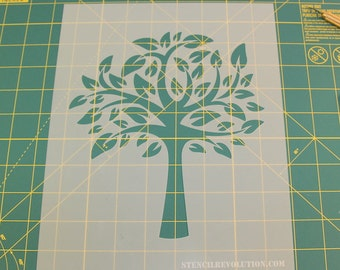 Tree of Life Stencil - Reusable DIY Craft Stencils of a Tree of Life