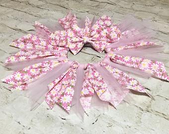 Little Fairy Set- Fabric Tutu; Daisy Fabric Tutu Skirt; Fabric Tutu Skirt; Baby Tutu; Newborn Tutu; Infant Tutu; Birthday Tutu; Photo Prop