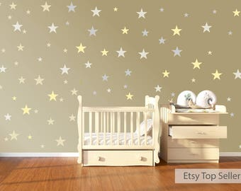 120 Vinyl Stars Nursery Wall Stickers