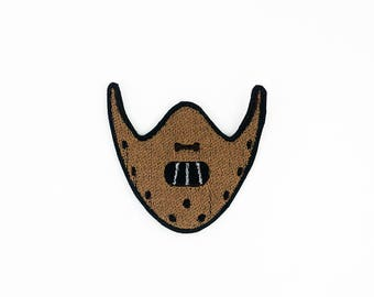 Hannibal Lecter Patch, Mask Patch, Hannibal Patch, Bite Mask Patch, Horror Patch, Hannibal Lecter, Silence of the Lambs, Modern Monster