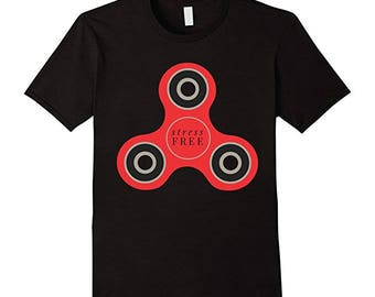 Stress free fidget spinner t-shirt-spin-play-relief