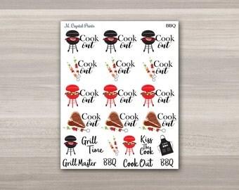 BBQ Planner Stickers || 24 Stickers