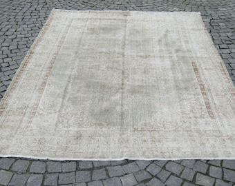 "Oushak Handmade Carpet Rug,6'7""x9'6""feet,207x293cm,Home Decor Oushak Rug,Vintage Rug,Rug Carpet,Anatolian Carpet Rug"