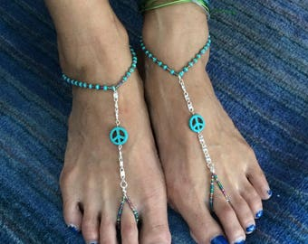 Barefoot Sandals:  Peace Out