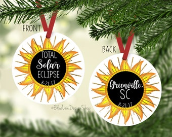 Total Eclipse Ornament, Solar Eclipse Holiday Ornament, Lunar Eclipse Ornament, Eclipse Christmas Ornament, Total Solar Eclipse Ornament