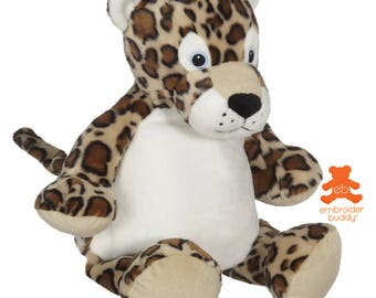 Personalised Plush Animal – LeRoy Leopard