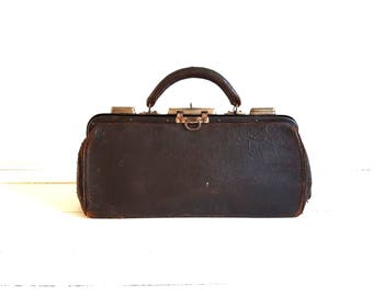 Old leather doctor bag