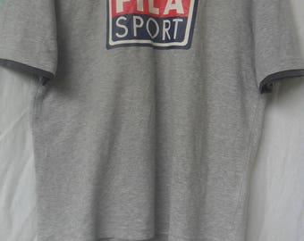Vintage Fila Sport T shirt//Big logo//Sportswear//Made in Japan