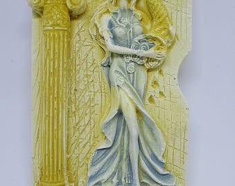 Goddess Of Wealth Tyche Fortuna Statue Tourist Travel Souvenir 3D Fridge Magnet