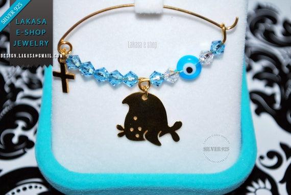 Nemo Fish Baby Brooch Sterling Silver Gold Swarovski Crystals Jewelry Best ideas Gift Baptism Christian Cross Birthday Mother Mommy Boy