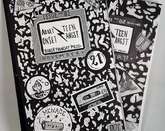 Adult Onset Teen Angst ( a.o.t.a ) Zine Issues 1 and 2 Bundle
