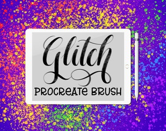 Glitch - Procreate lettering brush