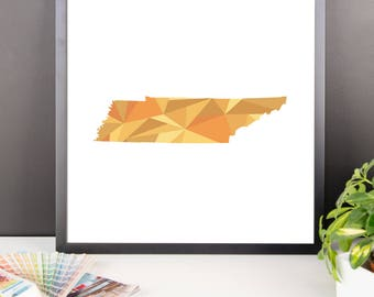 TENNESSEE State Pattern Map Print, Tennessee Poster, Tennessee Wall Art, Tennessee Art, Tennessee Gift, Tennessee Decor, Tennessee Print