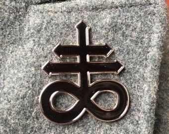 Sulfur Symbol Enamel Pin